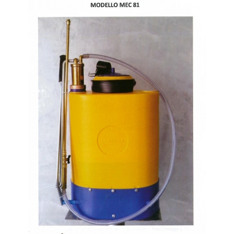 POMPA IRRORATRICE A SPALLA MODELLO MEC 81